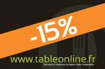 -15% sur l'addition
